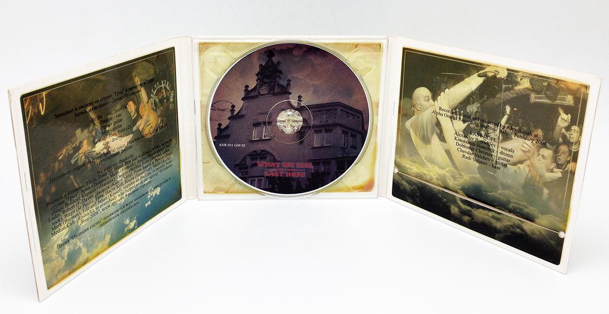 Digipack CD 6 полос 1 трей + вырез для буклета