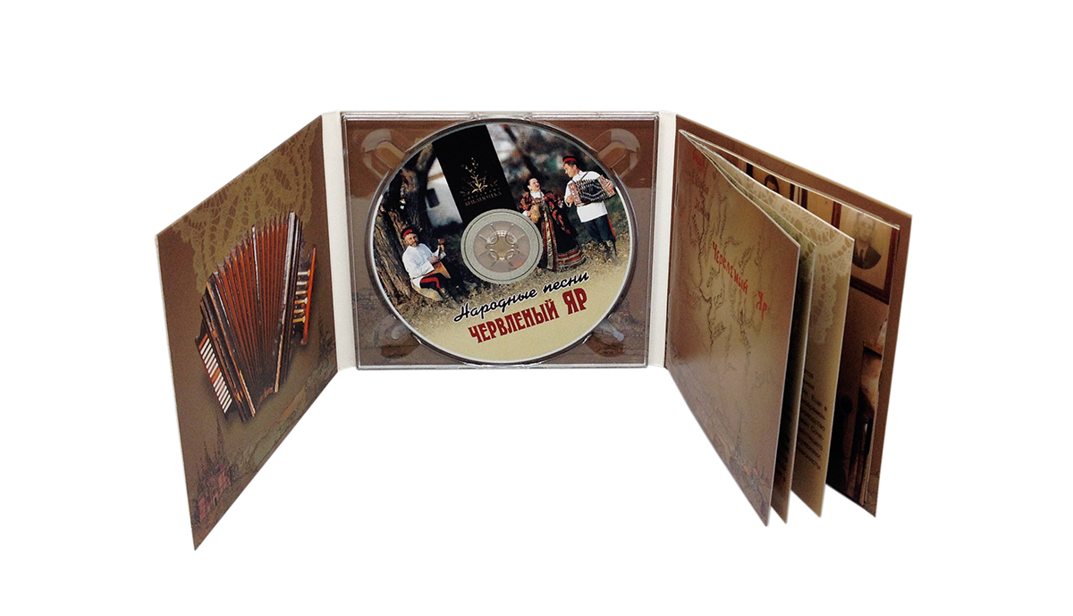 Digipack CD 6 полос 1 трей + приклейка буклета