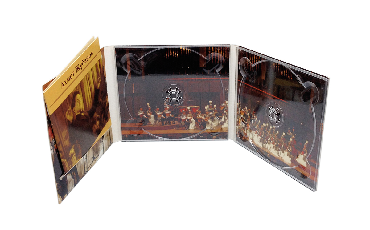 Digipack CD 6 полос 2 трея + вырез для буклета