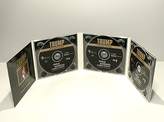 Digipack CD 8 полос 3 трея