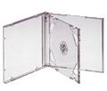Jewel box CD (прозрачный трей 2 диска)