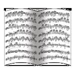 Нотные партитуры (блок 8 полос)
