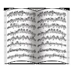Нотные партитуры (блок 16 полос)