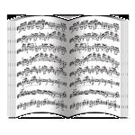 Нотные партитуры (блок 24 полосы)