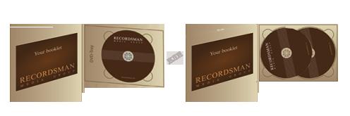 Диджипак для DVD (горизонтальный) с прорезью для буклета