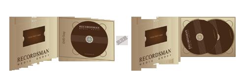 Диджипак для DVD (горизонтальный) с вырезом под визитку