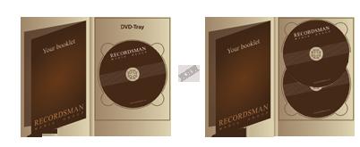Диджипак для DVD (один трей) с вкладышем