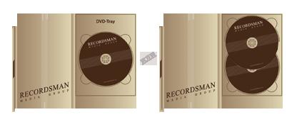 Диджипак для DVD (один трей) с клапаном на магните
