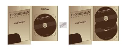 Диджипак для DVD с карманом для буклета