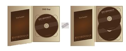 Диджипак для DVD (один трей) с прорезью для буклета