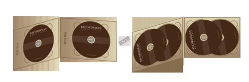 Диджипак для DVD (2 трея горизонтальный)