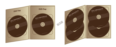 Диджипак для DVD (2 трея)