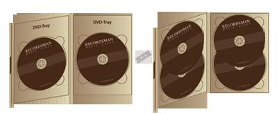 Диджипак для DVD (2 трея горизонтальный) с клапаном на магните