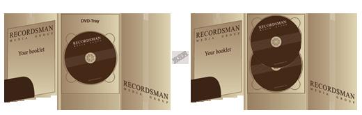 Digipack для DVD (на 2–4 диска)