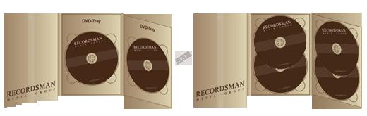Диджипак для DVD (два трея)