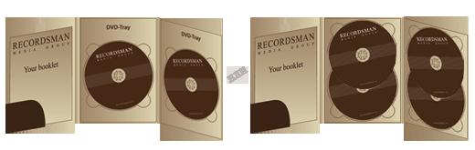 Digipack для DVD (с вырезом под визитку)