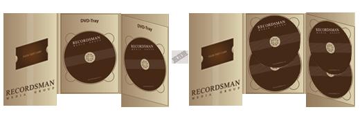 Диджипак для DVD (3 трея)