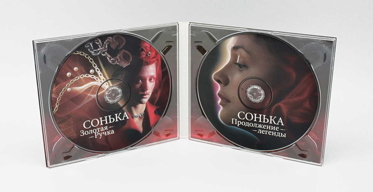 Digipack CD 4 полосы 2 трея
