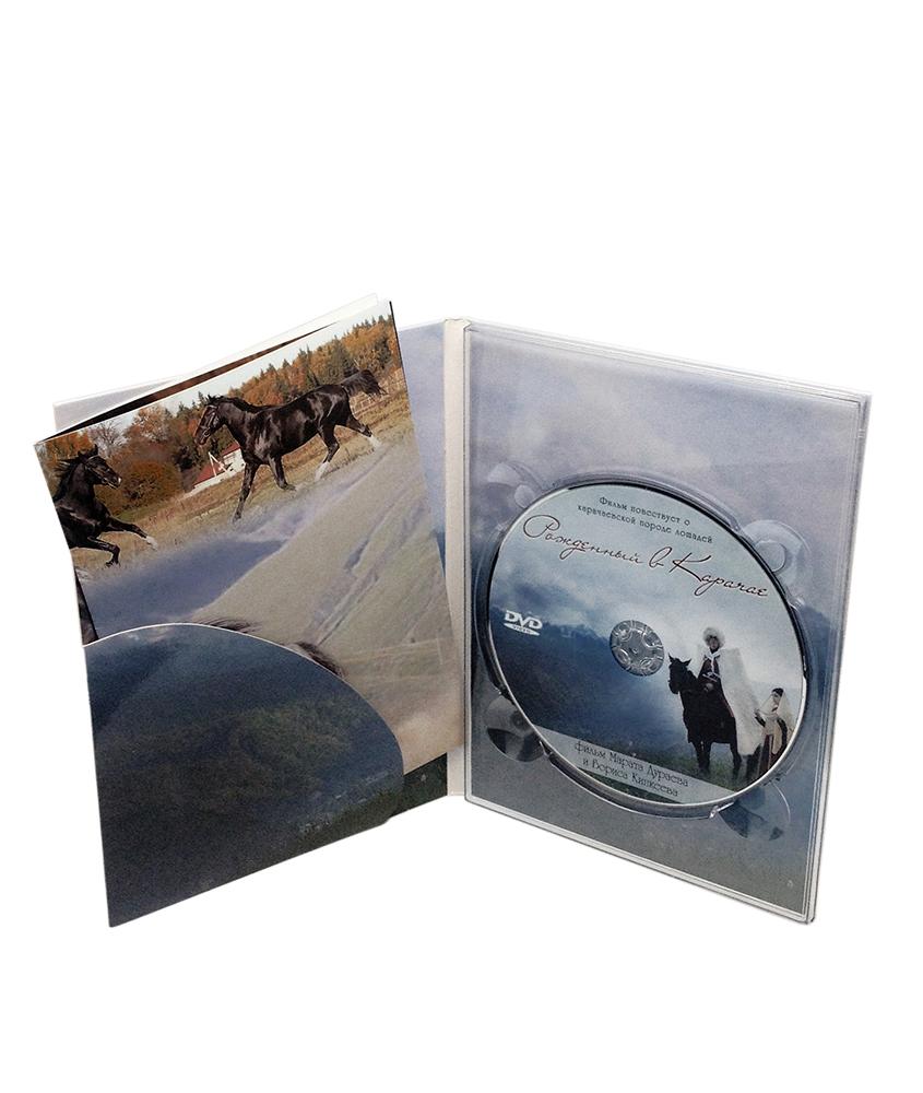 Digipack DVD 4 полосы 1 трей + карман