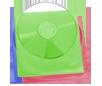 Цветной ПВХ-пакет для дисков