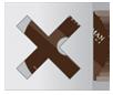Картонный конверт с фигурными вырезами