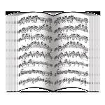 Нотные партитуры (блок 32 полосы)