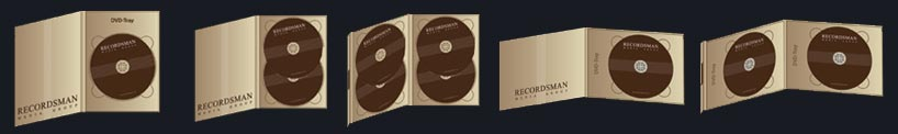 Digipack DVD (4 полосы, 1–4 диска)