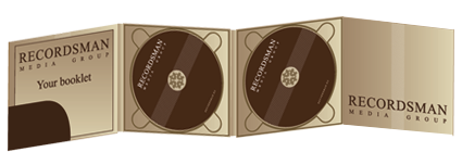 Digipack CD 8 полос 2 трея с карманом для буклета