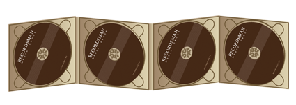 Digipack CD 8 полос 4 трея